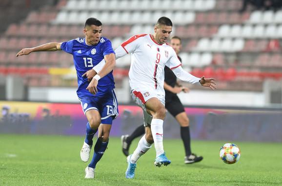 Aleksandar Mitrović je postigao pogodak za Srbiju