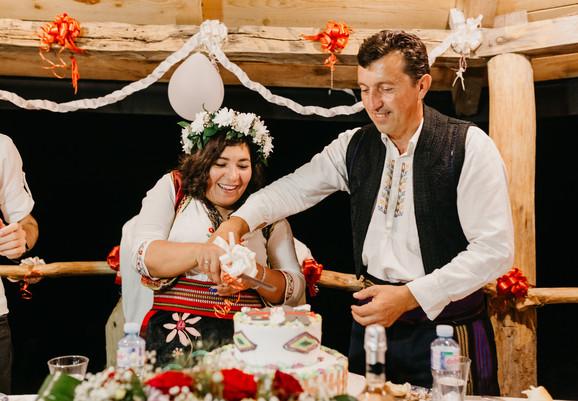 Žana i Rade na svadbenom veselju u Mionici