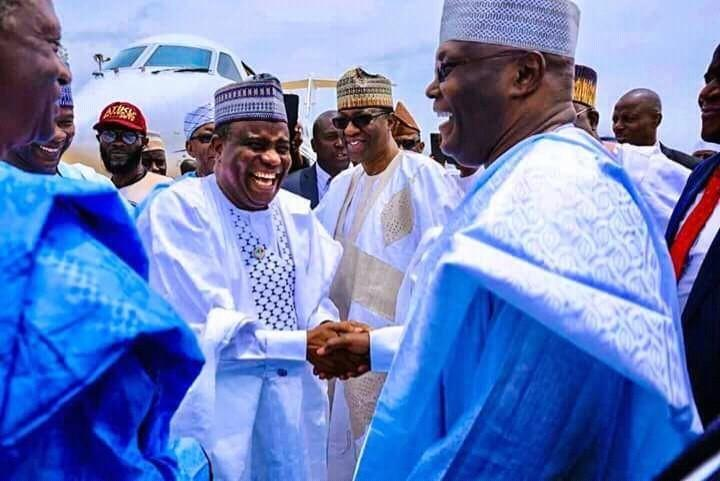 Atiku meets with Sokoto Governor Tambuwal before the election (Atiku campaign)   ATIKU – Official INEC result shows that he defeated Buhari with 1,615,302 votes LaBktkpTURBXy82YTEyNmNhODQ5MzBlOGY5MDM4MGQ1ODRkZTM5MDFlNS5qcGeSlQLNAxQAwsOVAgDNAvjCww
