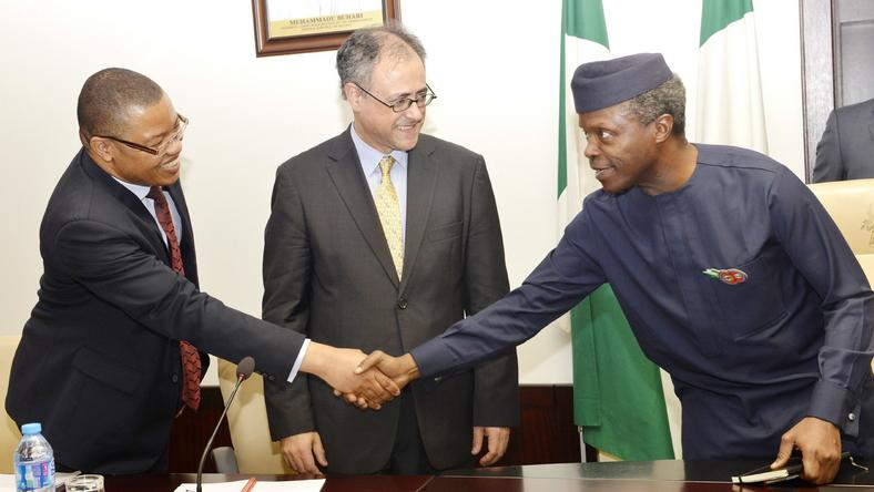 File photo: World Bank executives visits Osinbajo