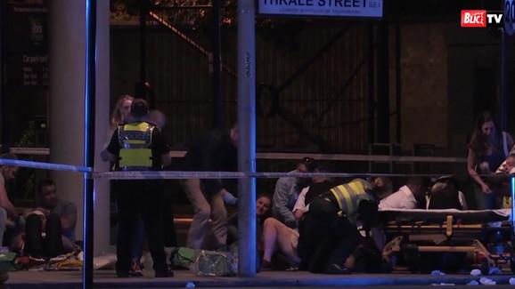 Napad na pešake u Londonu