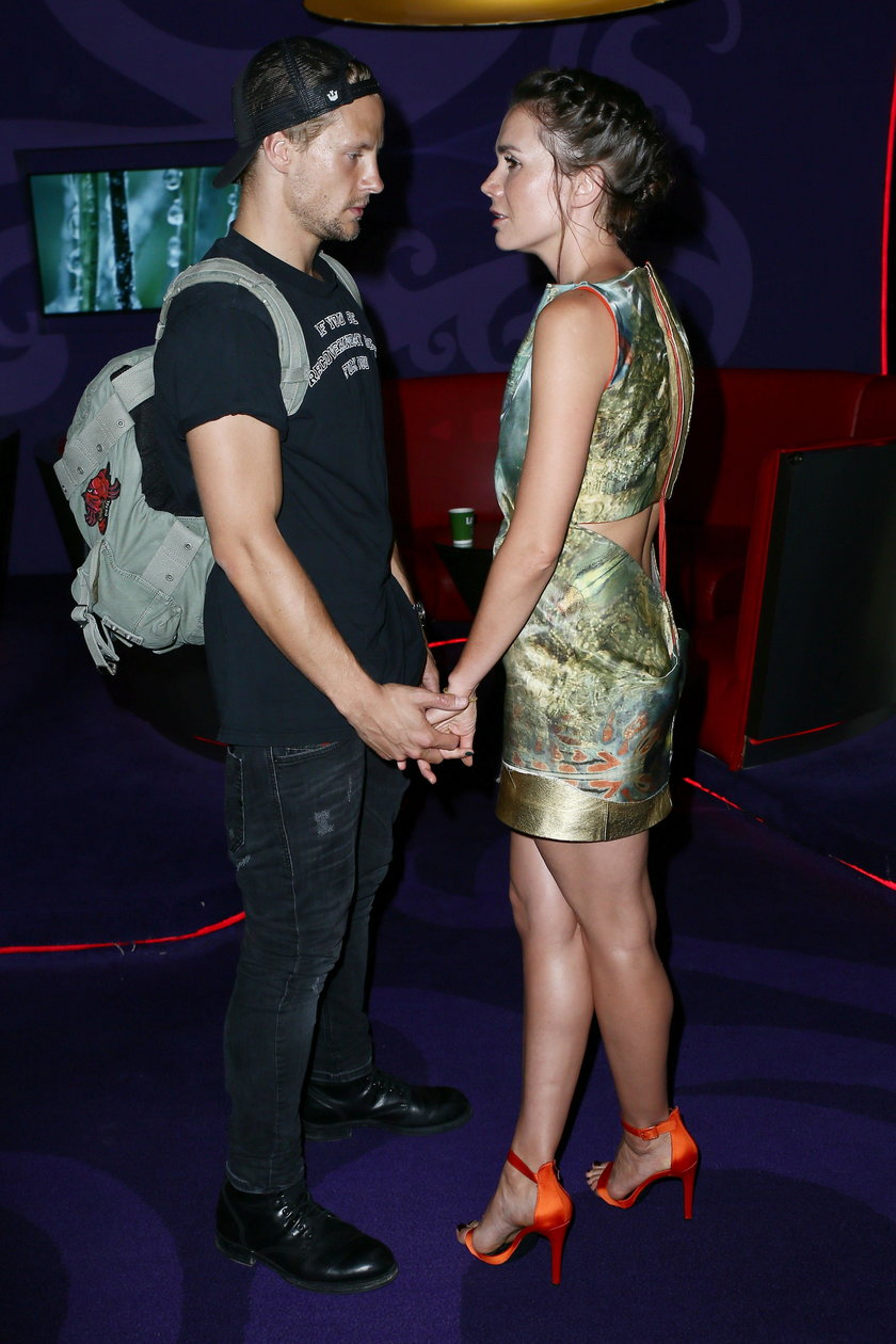 Sebastian Fabijański i Olga Bołądź