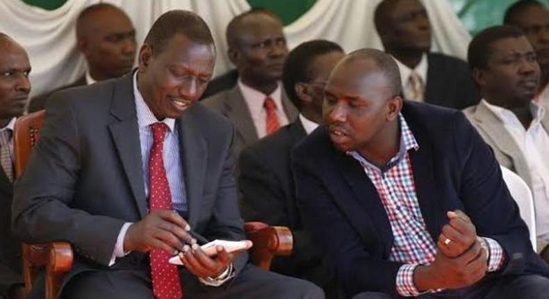 File image of DP Ruto with Murkomen
