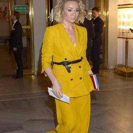 Sonia Bohosiewicz w żółtym garniturze. To się nazywa klasa!