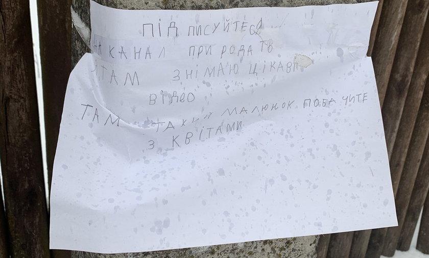 Ukraina. 10-latka wywiesiła ogłoszenie na słupie. Teraz jest gwiazdą internetu!