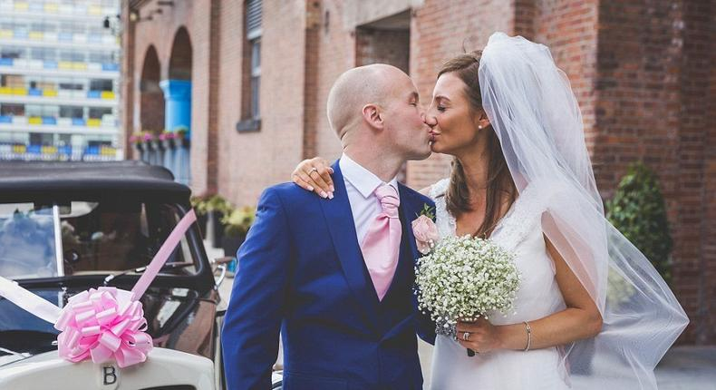 Laura and Steven Monks, both 35, tied the knot in a wedding ceremony all paid for by the kindness of strangers after Steven was diagnosed with terminal cancer. A charity helped them organise the big day by asking for donations of flowers, a wedding cake and even a dress by members of the public