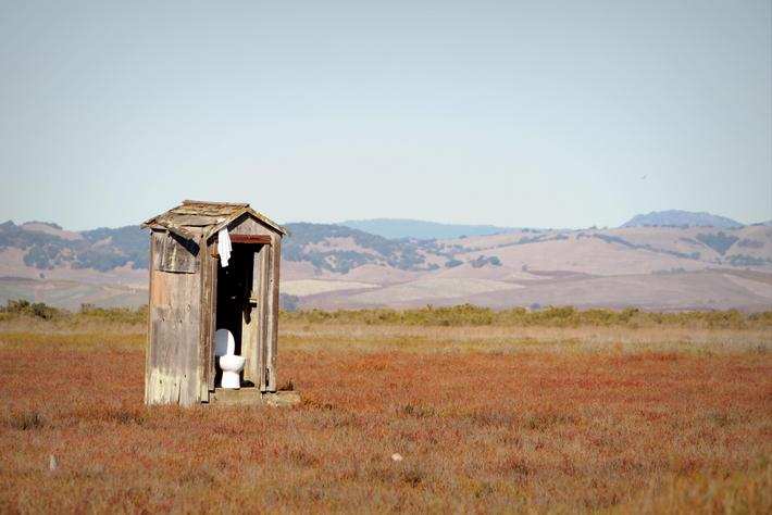 Nature's Outhouse, North Bay Public Restroom, Highway 37, California