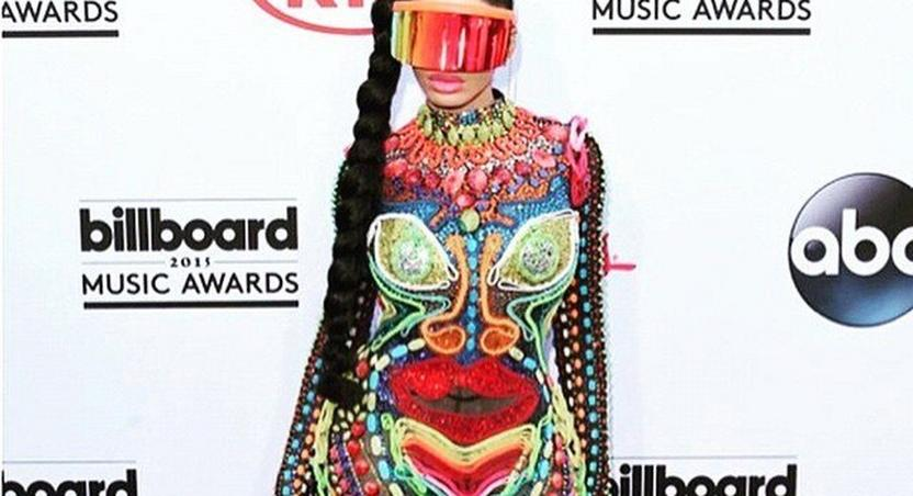 Whitenicious boss, Dencia on the 2015 Billboards Music Awards red carpet