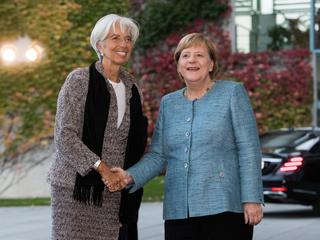 Angela Merkel i Christine Lagarde