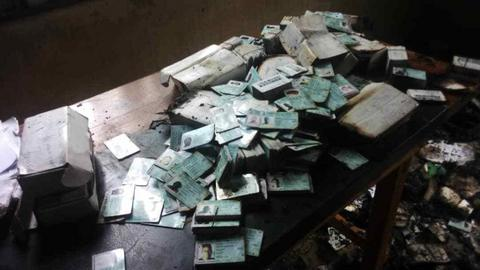 Fire engulfs INEC office in Abia destroying over 10,000 thousand PVCs