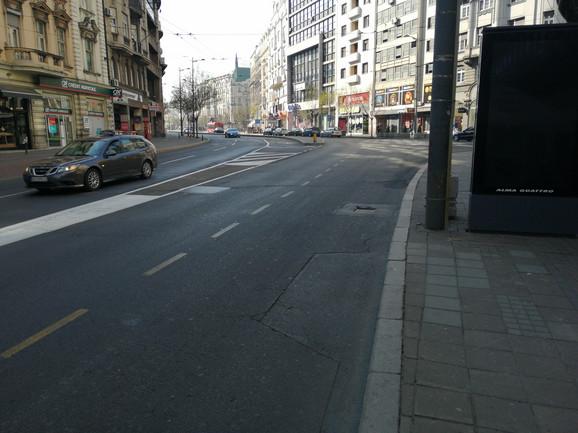 Kolarčeva će biti zatvorena za saobraćaj