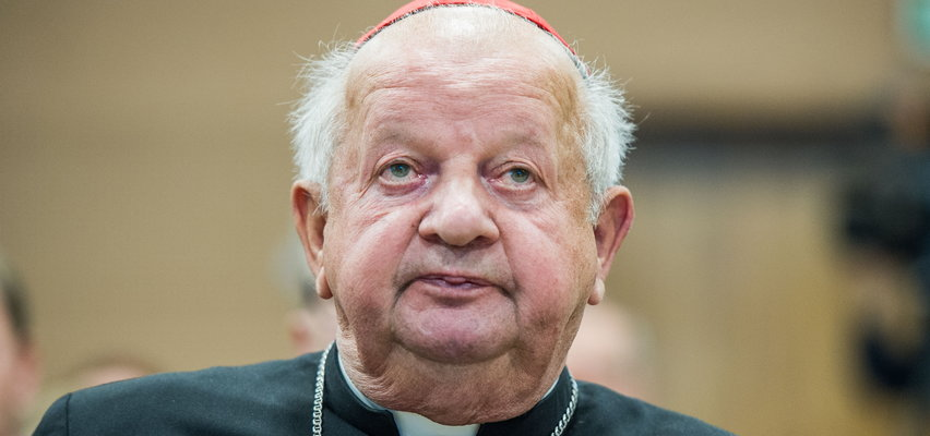 """Kardynał Dziwisz w """"Królestwie grzybów"""". Ten kapelusz to już przesada?"""