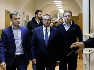 Russian Economy Minister Ulyukayev arrives for court hearing in Moscow