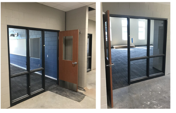 Prozori u učiniocima školske zgrade, koja će biti završena 2021, prekriveni su slojem otpornim na udar, tako da masovni ubica ne može da uđe