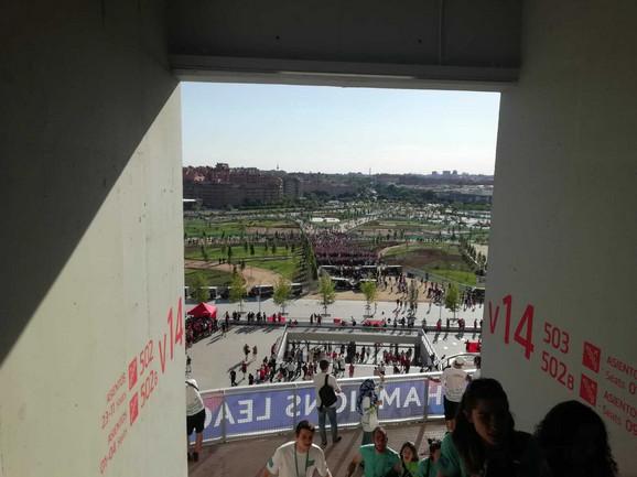 Pogled ispred stadiona Vanda Metropolitano