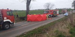 Tragiczny wypadek koło Tczewa. Kierowca zginął w płomieniach