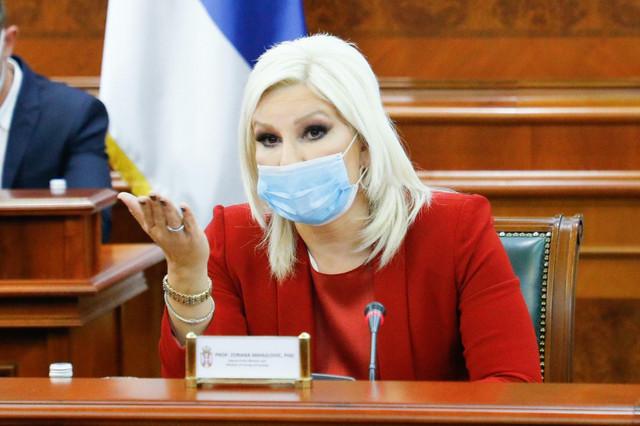 Zorana Mihajlović N aDanašnjem sastankui