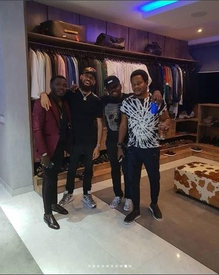 Phyno, Jim Iyke and other guest at the birthday party