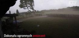 Zobacz trąbę powietrzną koło Szczecina. Przerażające!