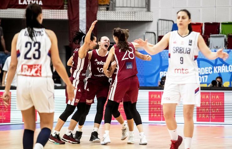 Ženska košarkaška reprezentacija Srbije, Ženska košarkaška reprezentacija Letonije