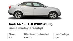 Audi A4 1.9 TDI (2001-2006). Samodzielny przegląd