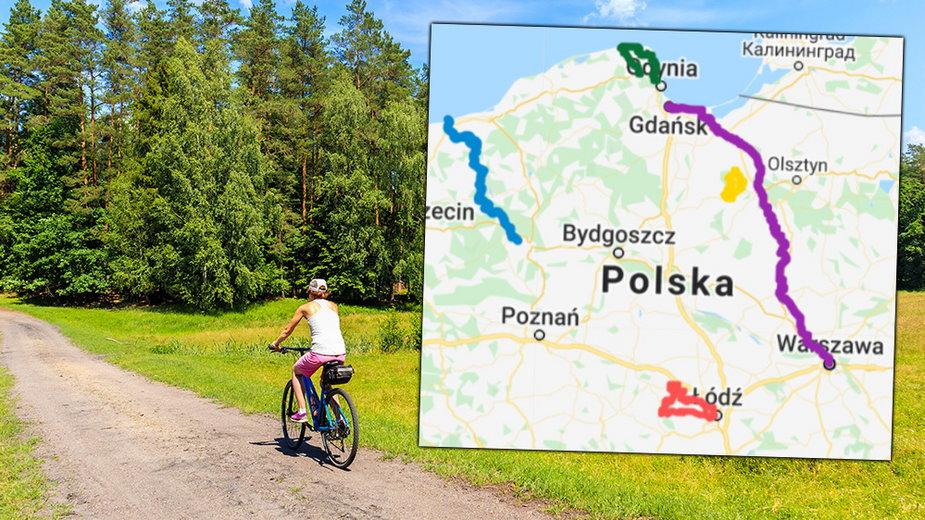 Trasy rowerowe w Polsce są zróżnicowane i ciekawe. 15 propozycji