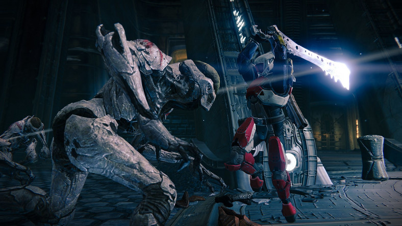 """Destiny"" is a game about traveling the universe, meeting aliens, and then shooting them. Or in the case above, stabbing them."