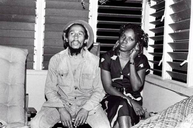 Bob Marley with Pascaline Bongo, in 1980