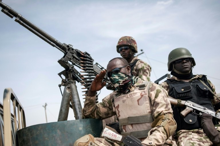 Nigerian soldiers fighting Boko Haram terrorists in northeast (Guardian)