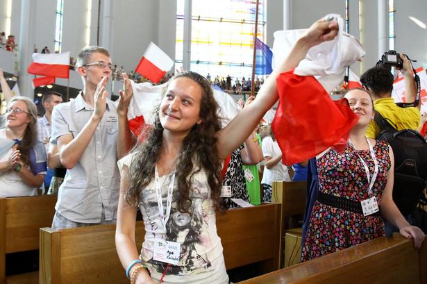 Wybuch radości po ogłoszeniu przez papieża, że Światowe Dni Młodzieży w 2016 roku odbędą się w Krakowie.