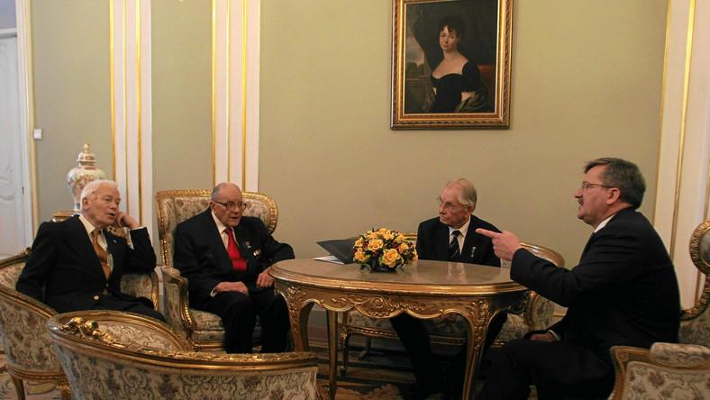 """generał Stefan """"Starba"""" Bałuk na spotkaniu z prezydentem"""