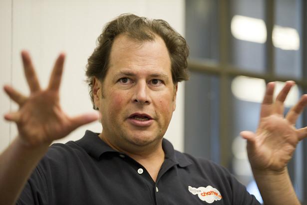 Marc Benioff, założyciel, przewodniczący rady nadzorczej i dyrektor wykonawczy w Salesforce.com Inc., najbardziej innowacyjnej firmie według magazynu Forbes.