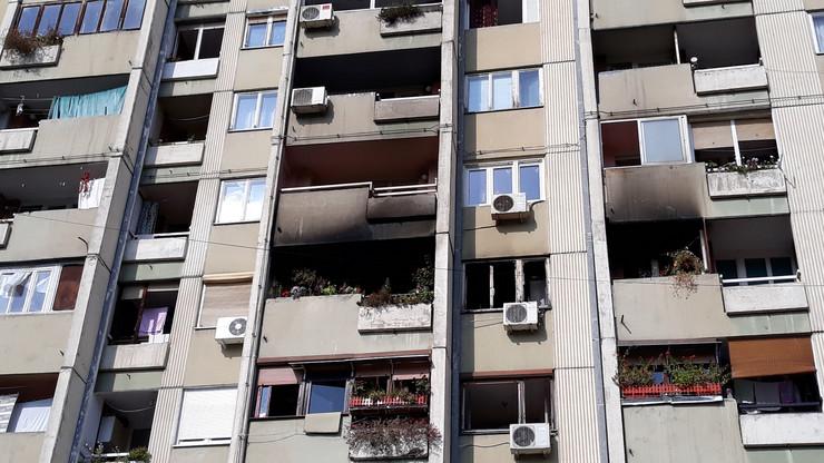 Požar izbio na IV spratu zgrade na Bulevaru Nemanjića u Nišu