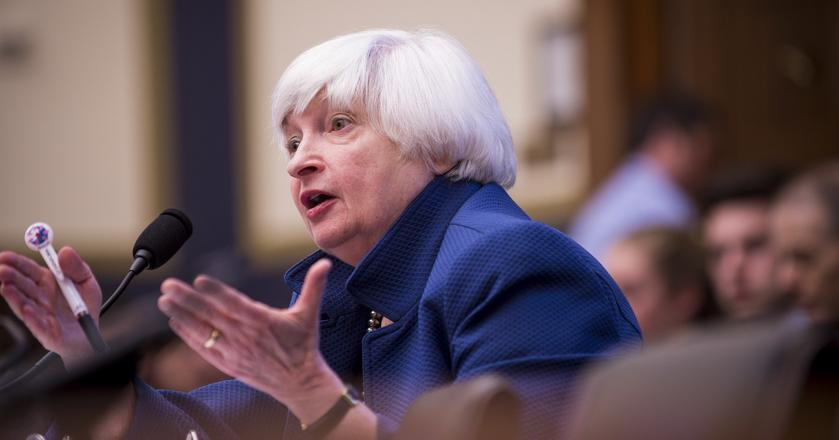 Yellen rozczarowała inwestorów bowiem w swoim wystąpieniu nie porusza w ogóle tematów związanych z polityką monetarną
