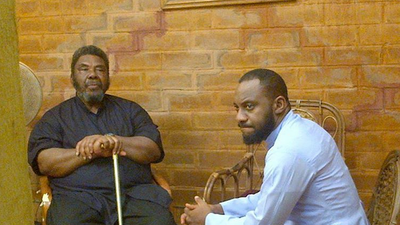 Yul Edochie and his father Pete Edochie [Allure]