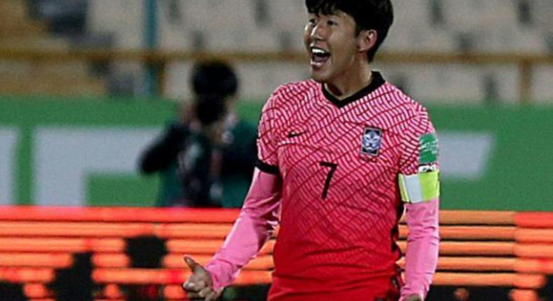 Son Heung-min's goal in Teheran was cancelled out by Iran's equaliser Creator: ATTA KENARE