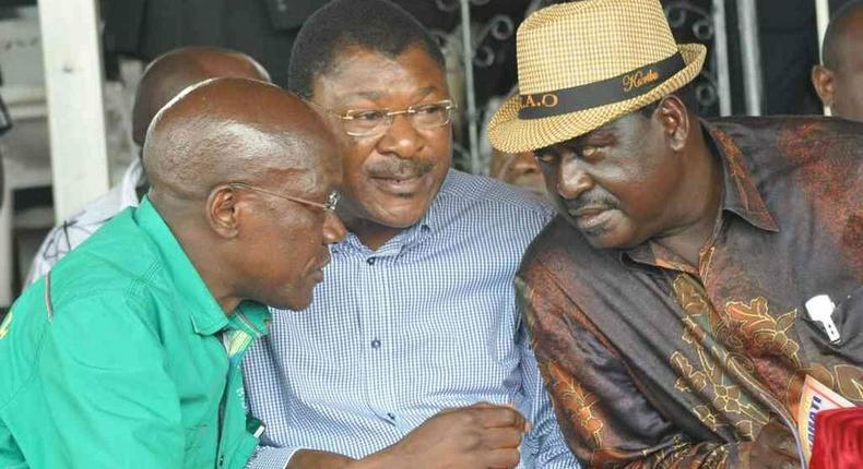 Boni Khalwale, Moses Wetangula and Raila Odinga