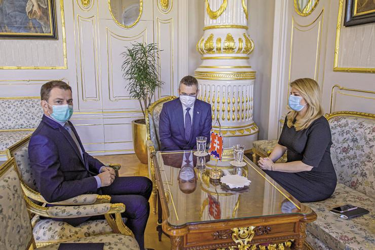 Tranzicija vlasti usred pandemije: Aktuelni premijer Igor Matovič, bivši predsednik vlade Peter Pelegrini i predsednica Zuzana Čaputova
