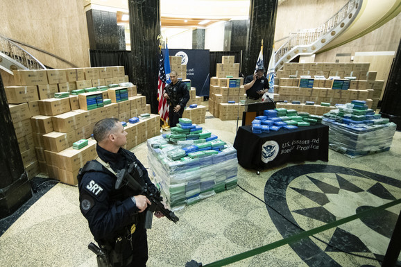 Skoro 20 tona kokain zaplenjeno je u SAD na brodu na kom su radili mornari iz Crne Gore