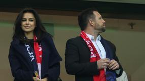 Natalia Siwiec na meczu towarzyskim Polska - Szkocja