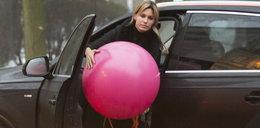 Agnieszka Hyży i jej kłopotliwy balonik