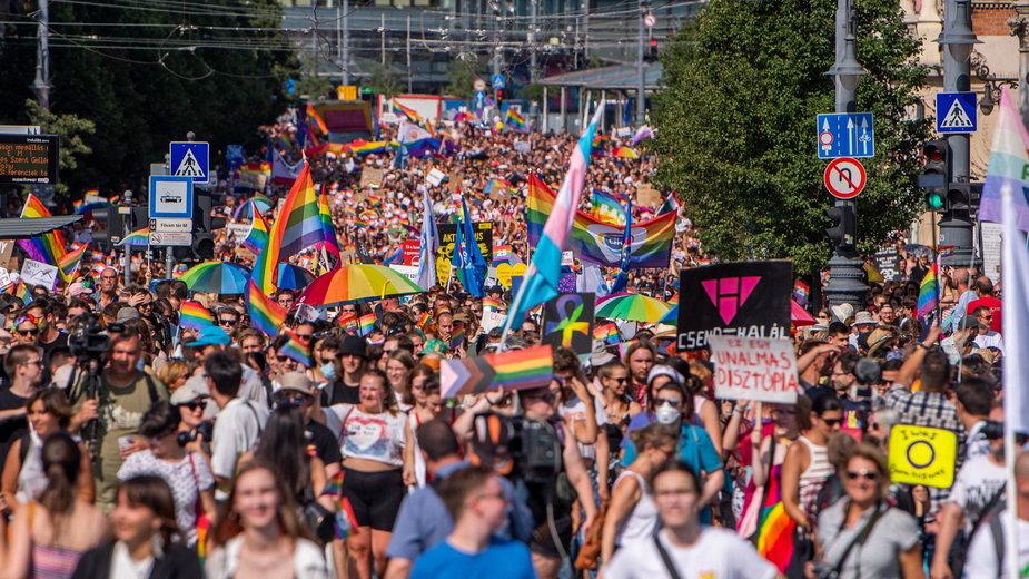 Parada równości w Budapeszcie, 24 lipca 2021 r