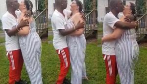Social media react to Nana Tonardo kissing his 'white sugar mummy'