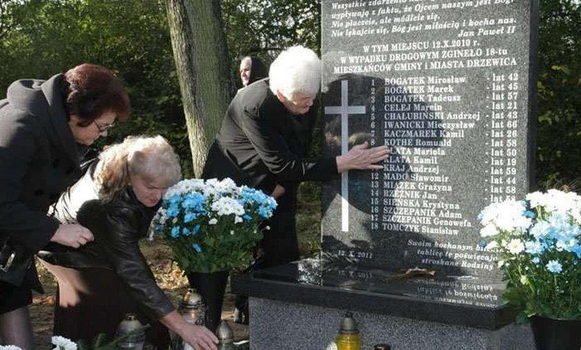 Odsłonięto pomnik ofiar katastrofy busa