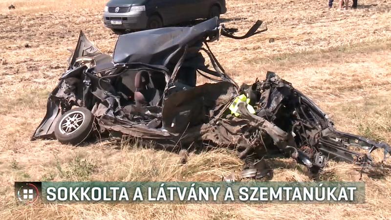 Sokkolta a szemtanúkat, amikor a vonatnak ütköző autó a darabjaira hullott /Fotó: RTL Klub