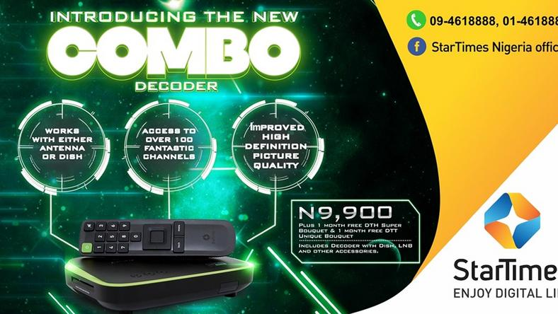StarTimes launches 2-in-1 combo decoder in Nigeria
