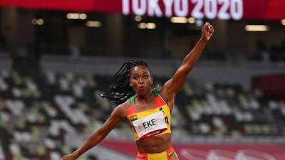 Nadia Eke: Ghanaian triple jumper retires after being eliminated from Olympic Games