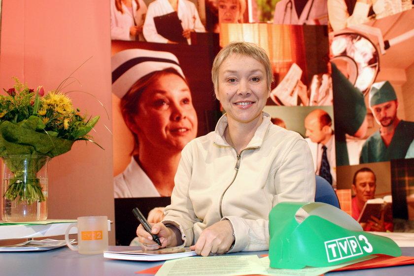 """Daria Trafankowska była jedną z gwiazd """"Na dobre i na złe"""". Po raz ostatni zagrała w serialu w kwietniu 2004 roku. Zmarła na raka trzustki"""