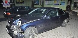 Driftował bmw przed komisariatem policji i skasował auto