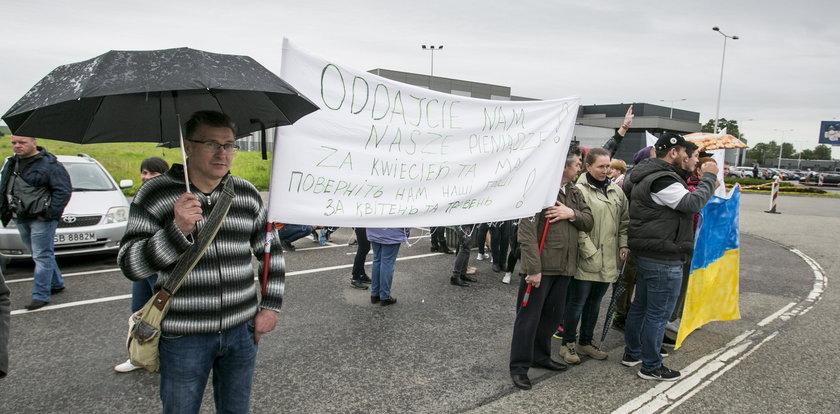Protest Ukraińców. Oddajcie nam nasze pieniądze!